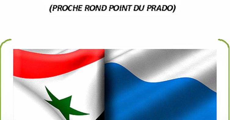 Le bourricot marseille manifestation de sympathie avec l 39 intervention russe en syrie - Monoprix rond point du prado ...