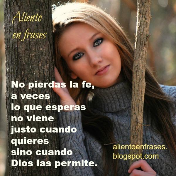 Frases cristianas de la fe, confianza en Dios, imagen con mensaje cristiano de confiar. Dios te ayuda.