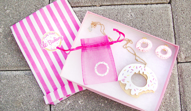 I love crafty, donut jewellery, kawaii accessories