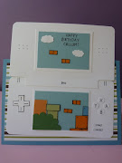The Nintendo DS was created from two rectangles of 'Whisper White' cardstock .