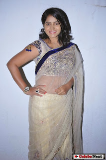 Actress Tanusha  Picture Gallery in Saree at Present Love Movie Audio Launch  0008