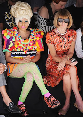 Nicki Minaj and Anna Wintour at New York Fashion Week