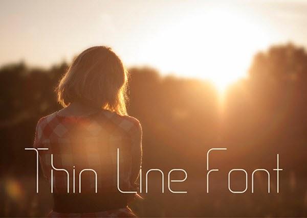 Thin Line Font – Free font