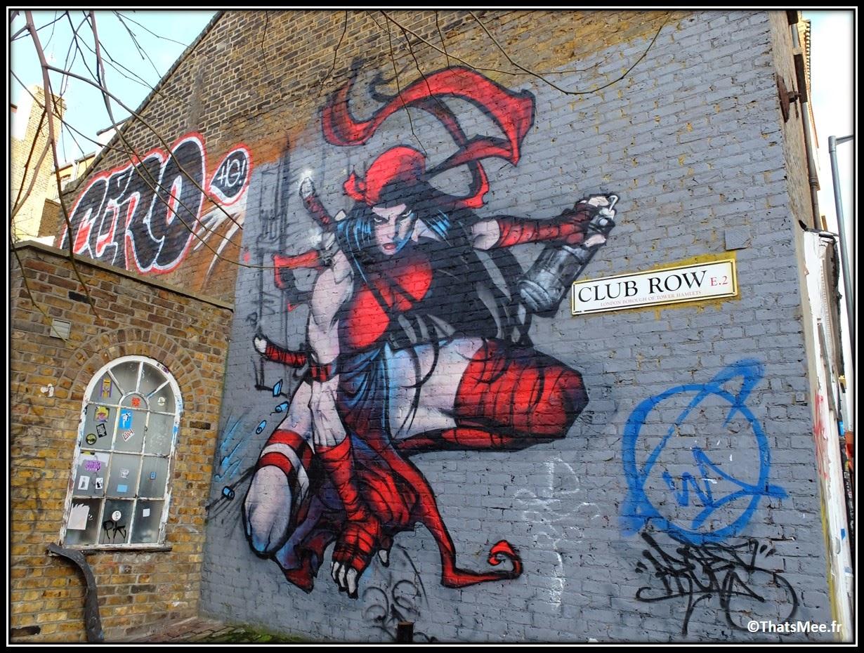 Street Art Londres Shoredicth East London Brick Lane Witchblade héroine