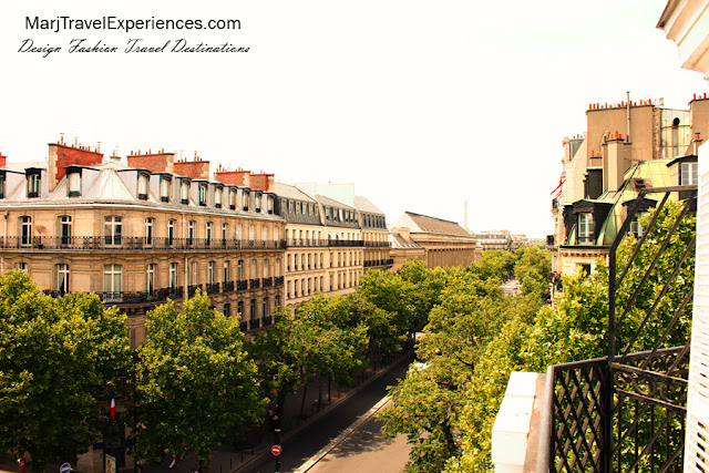 view from the balcony hotel cluny square paris