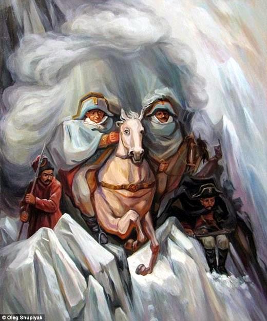 H raldie oleg shuplak et les illusions d 39 optique for Illusion d optique peinture