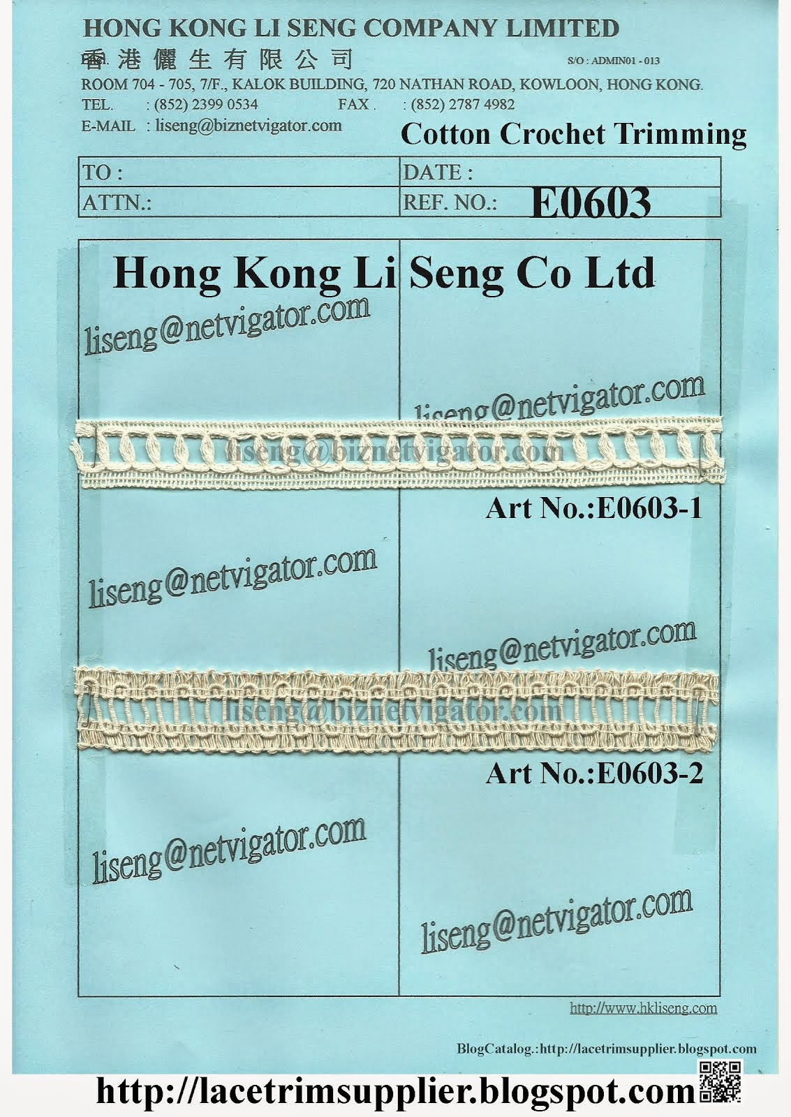 Cotton Crochet Trimming Manufacturer and Supplier - Hong Kong Li Seng Co Ltd