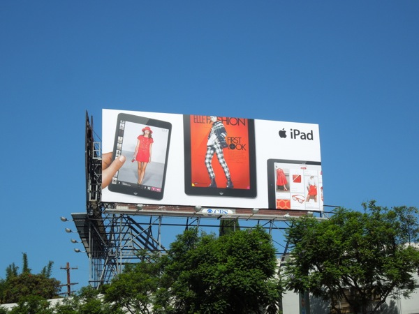 iPad Elle Fashion billboard