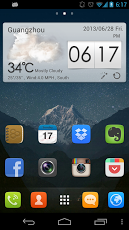 Android Launcher Go Launcher EX home screen
