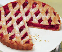 Cranberry-Pear Lattice Tart