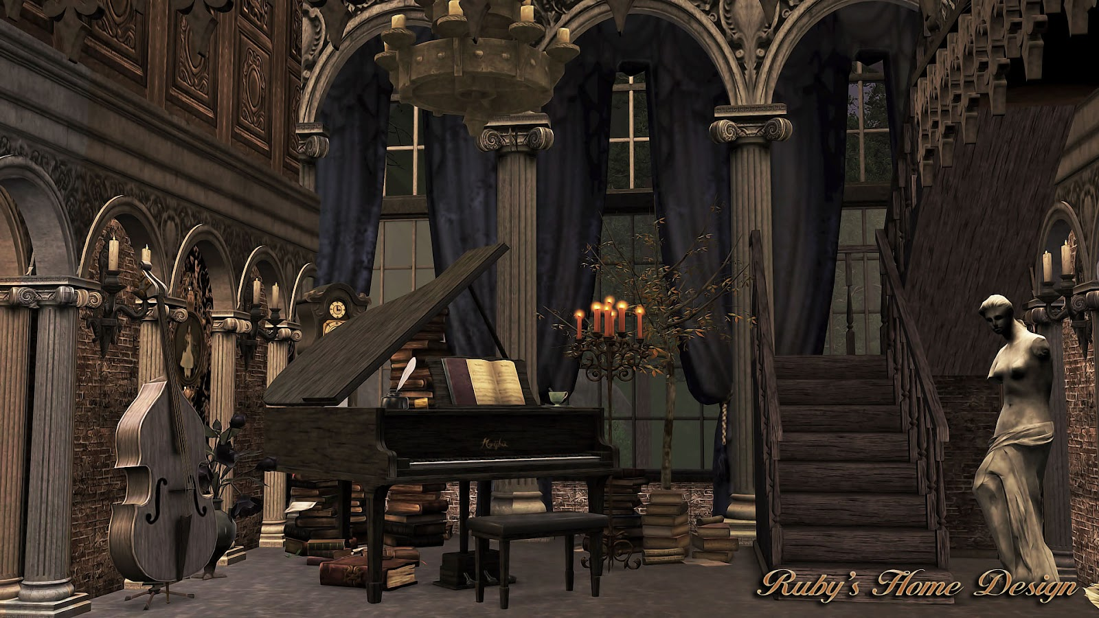 Sims3 The Gothic Mansion Rubys Home Design