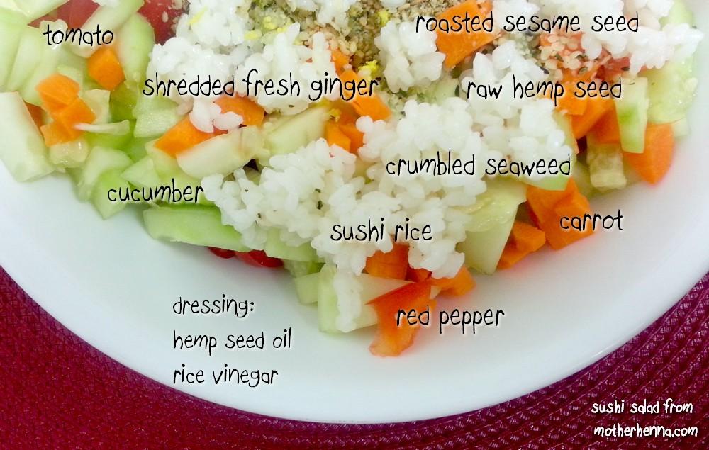 Hawk Family Juice + Food Blog: Sushi salad...yummy sushi, just without ...