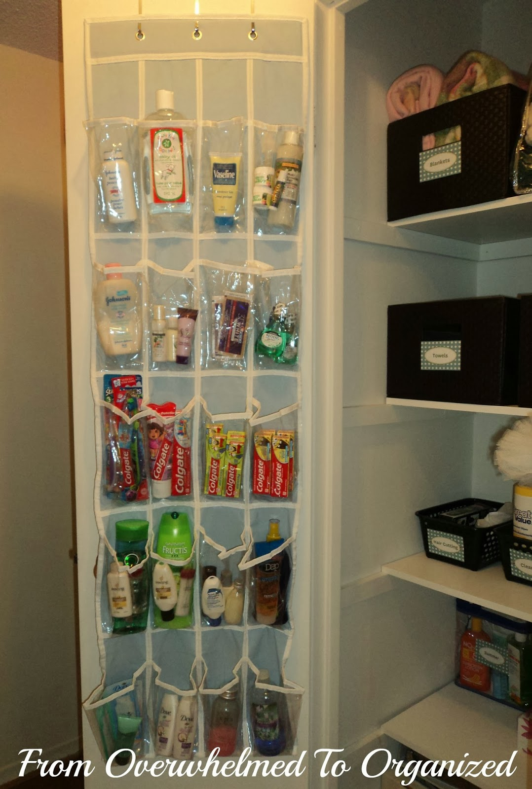 Back+of+the+Door+Organizer+for+Toiletries.jpg & Day 2: Toiletries 31 Days of Easy Decluttering | From Overwhelmed ...