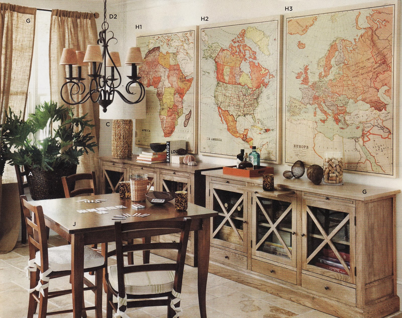 Creative juices decor oh for the love of maps home for Antique home decorations