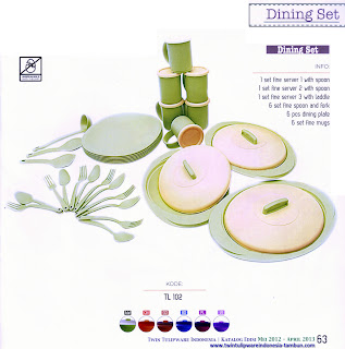 dining set tulipware