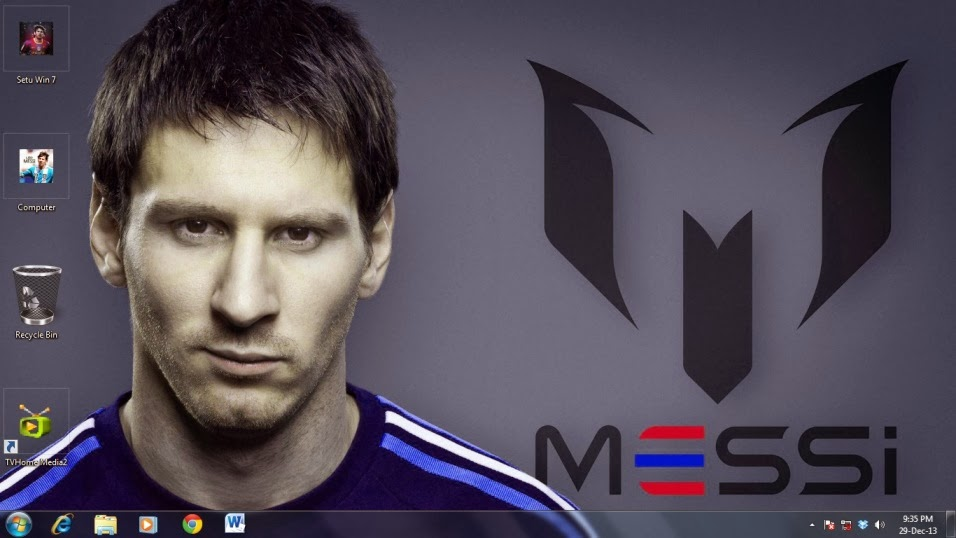 Messi theme for PC