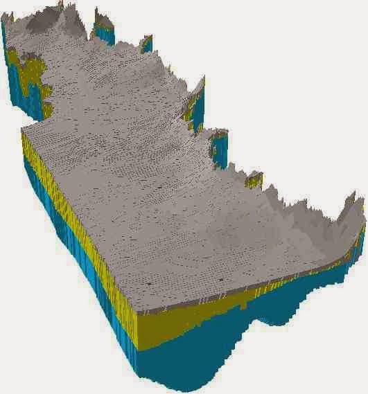 Bloque diagrama con arcscene de arcgis