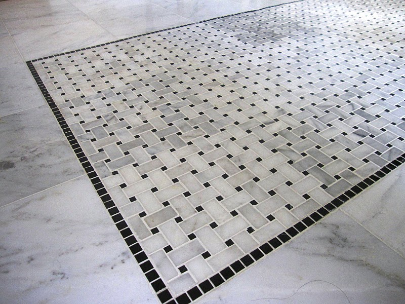 Carrara bathrooms on pinterest carrara marble marbles for Carrara marble bathroom floor designs