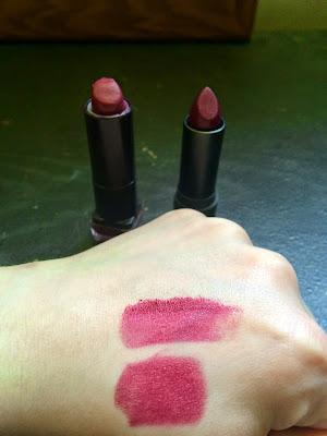 plum lipstick swatch