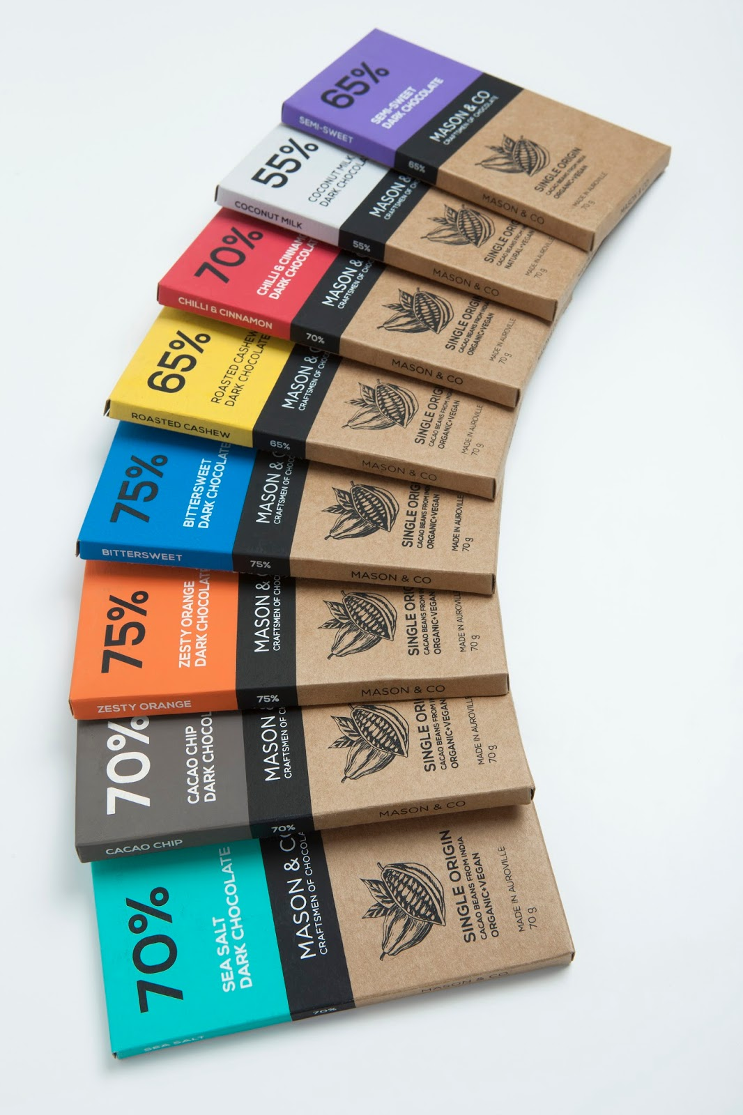 mason  u0026 co chocolate bars - the dark chocolate collection on packaging of the world