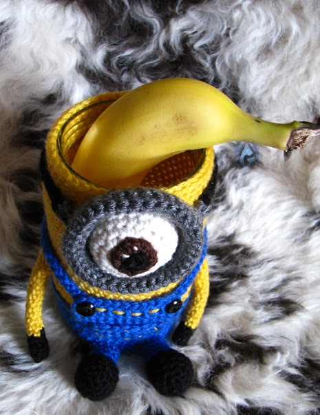 crochet  Minion cozy by Karla B. Rihtaršič