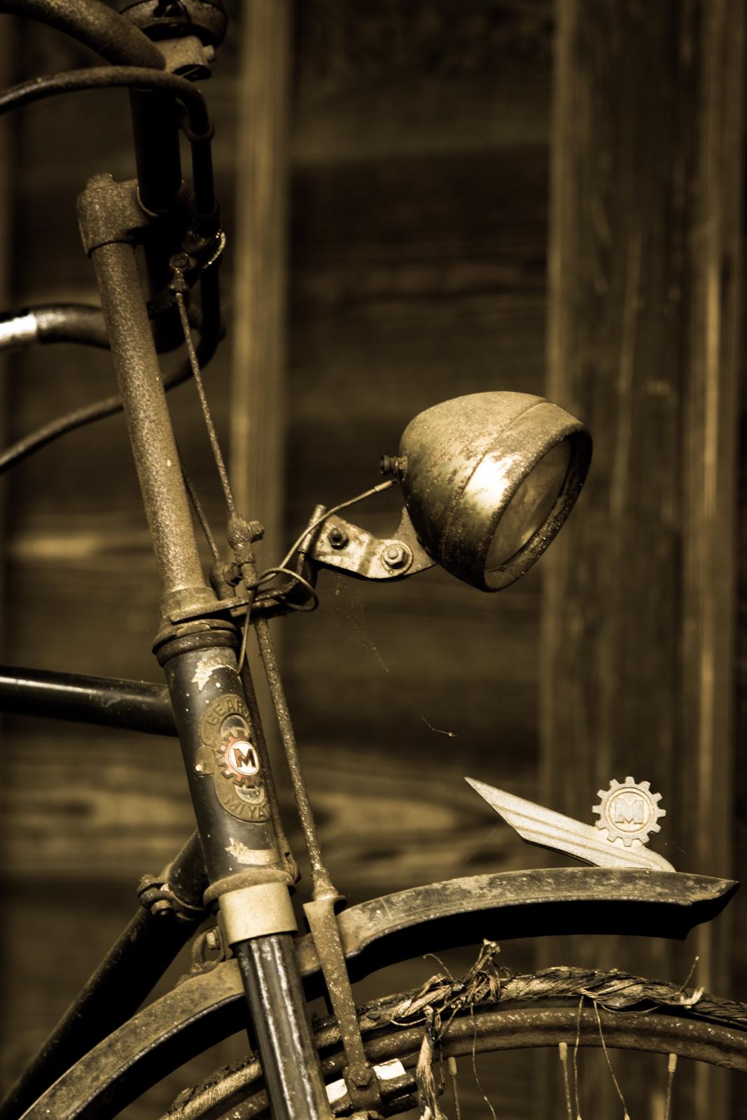 昔のミヤタサイクルの自転車の写真