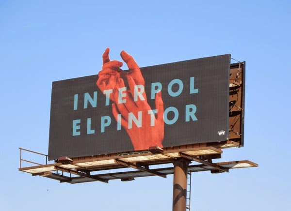 Interpol El Pintor hands billboard