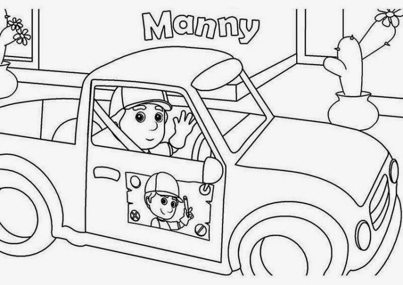 handy manny coloring pages e - photo#30