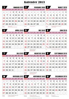 Indonesia 2013 lengkap Hari libur Nasional dan Cuti Bersama Tahun 2013