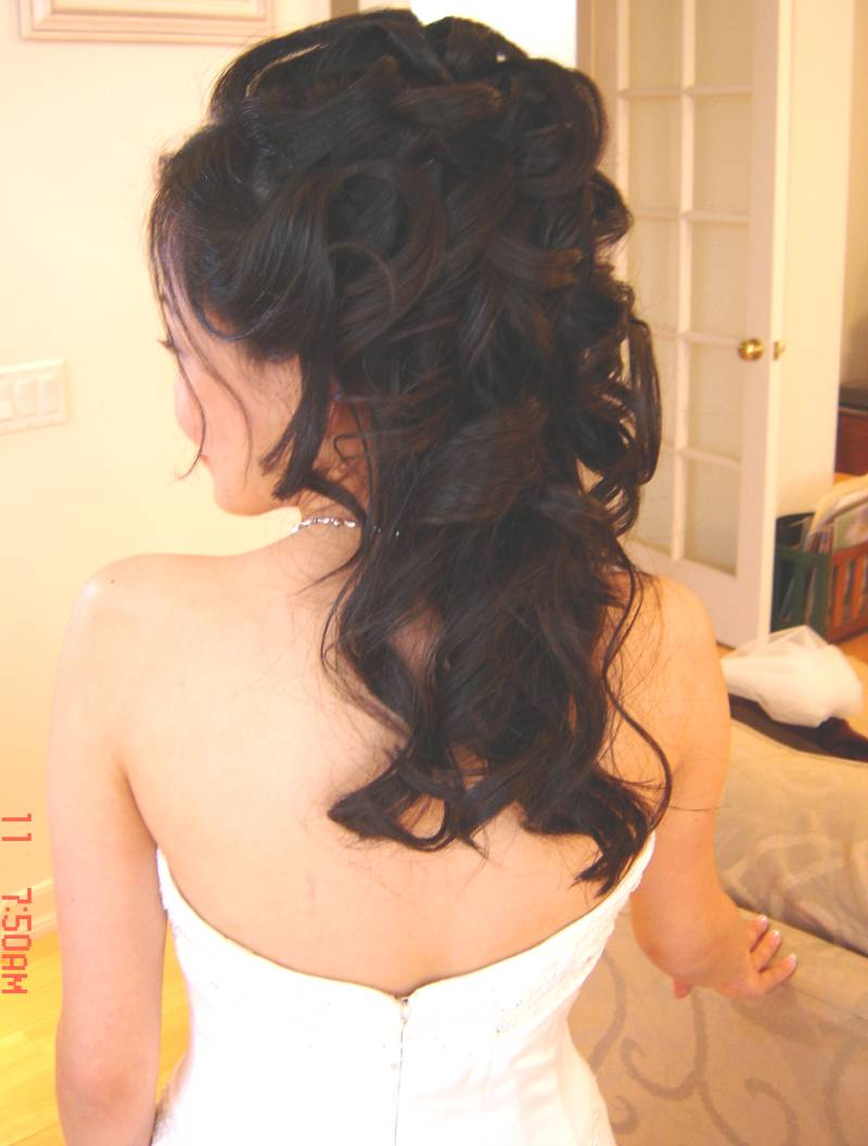 wedding hairstyles half up half down with veil
