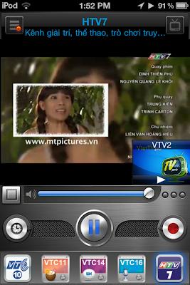 Xem tivi tren Iphone bang VietTV Pro