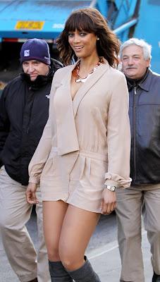 Tyra Banks Leggy Candids