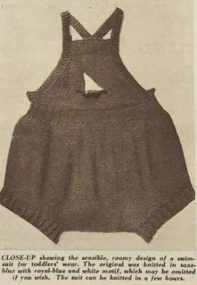 Hand-knit sunsuit for a Toddler, 1953
