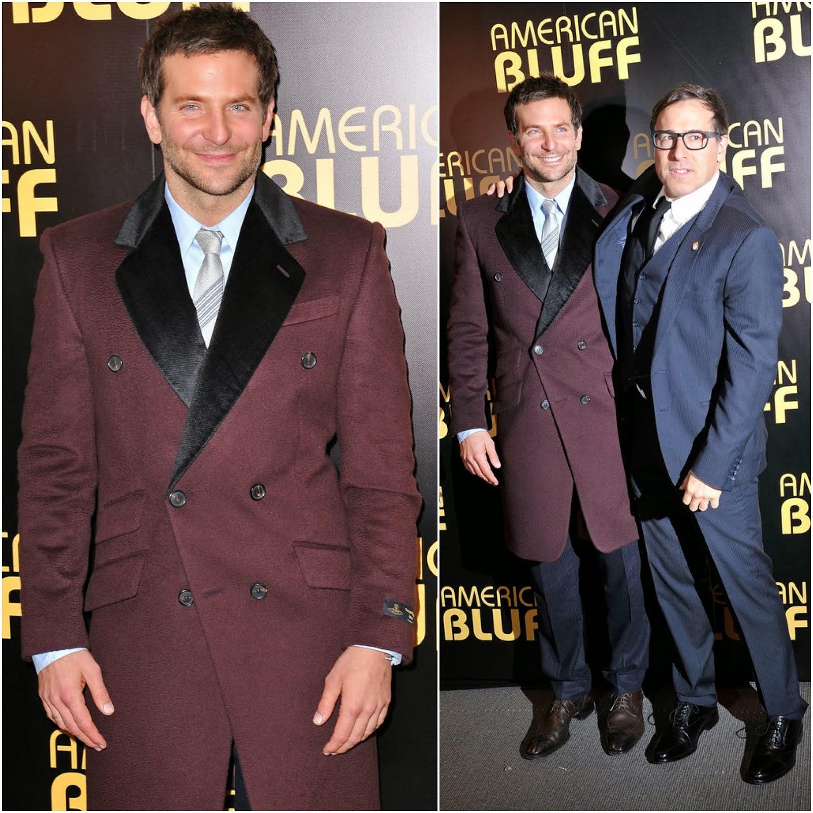 Bradley Cooper in Vivienne Westwood - 'American Bluff' Paris Premiere