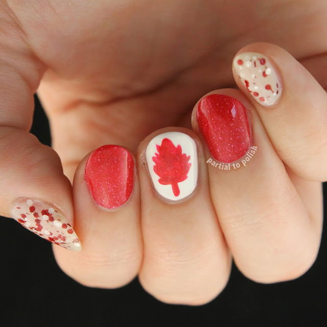 Canadian Flags for Canada Day Featuring piCture pOlish, Cirque Colors and Black Sheep Lacquer
