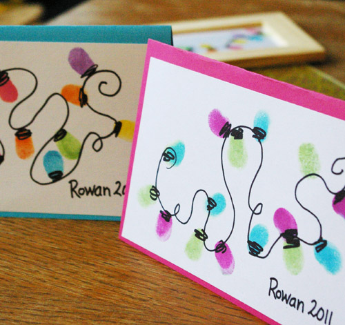 Beneath the rowan tree christmas card thumb print for Crafty christmas cards ideas