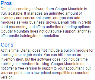 Cougar Mountain Business Accounting