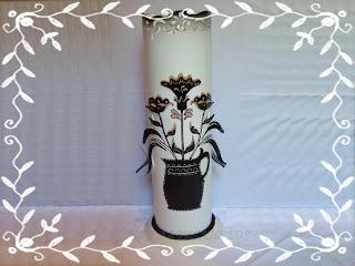 LUMINÁRIA EM PVC FLORAL