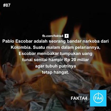 Api Unggun dari Uang Kertas Pablo Escobar