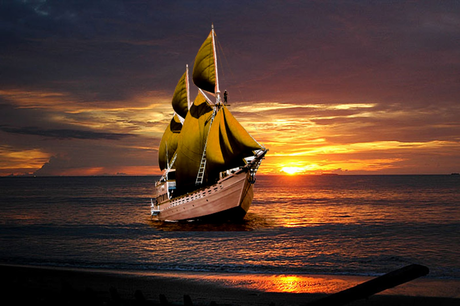 Love Wallpaper Kapal : Kita Adalah Kapal-Kapal yang Berlayar - Kapal Layar