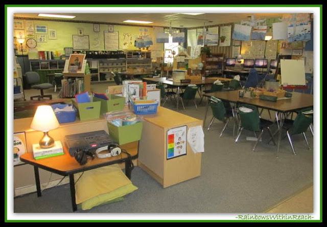 Kindergarten Classroom Set-up Overview  (Classroom Decor RoundUP at RainbowsWithinReach)