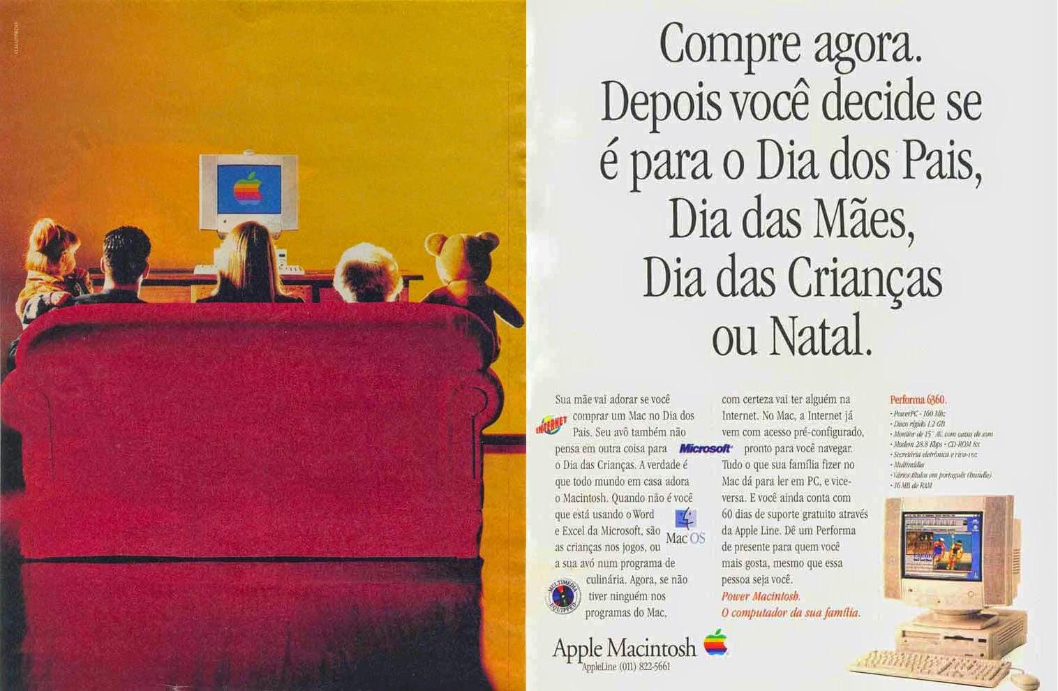 Propaganda da Apple para promover o Macintosh em 1997.