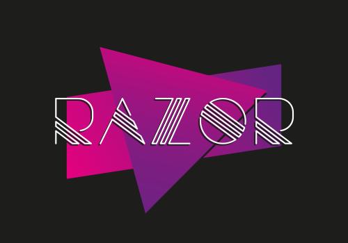 razor creative font