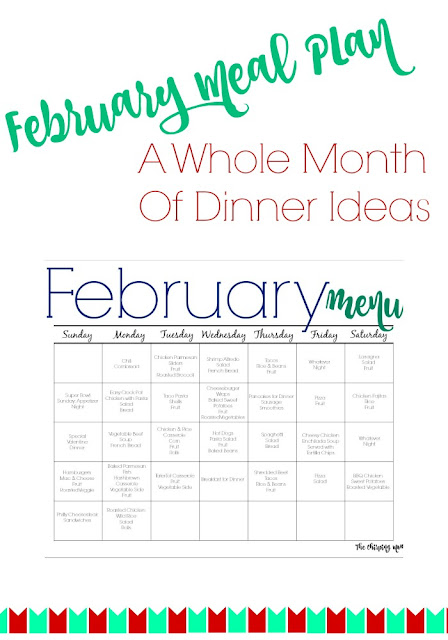 February Meal Plan for Families (Free Printable) || The Chirping Moms