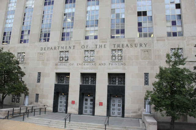 Department of Treasury in Washington DC, USA