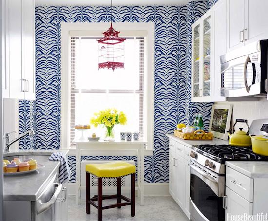 Blue kitchen wallpaper 2017 grasscloth wallpaper for Blue kitchen wallpaper