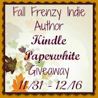 Enter to win the Fall Frenzy Indie Authors Kindle Paperwhite Giveaway. Ends 12/16.