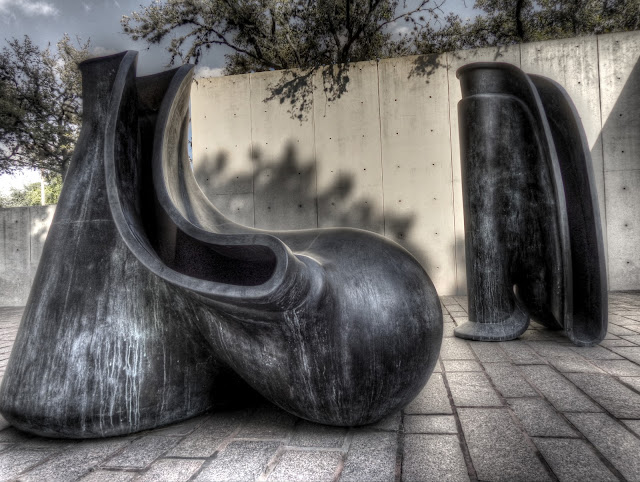 New Forms by Tony Cragg at Cullen Sculpture Garden at the Museum of Fine Arts in Houston, Texas - HDR
