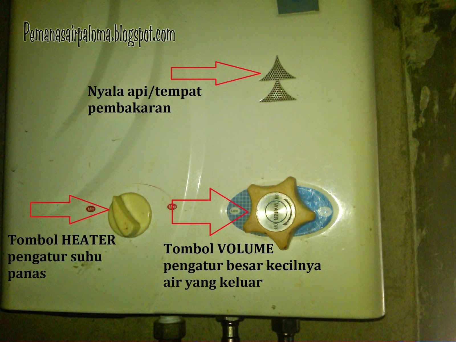 elemen tombol heater pengatur suhu panas volume water pressure