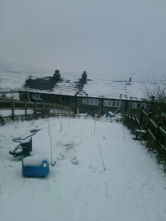 Snow covering the moors.